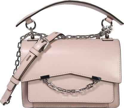 Karl Lagerfeld Taška přes rameno pastelově růžová